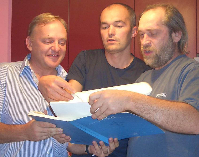 Ivan Kučer, Meinhard Holler, Boža Saramandič