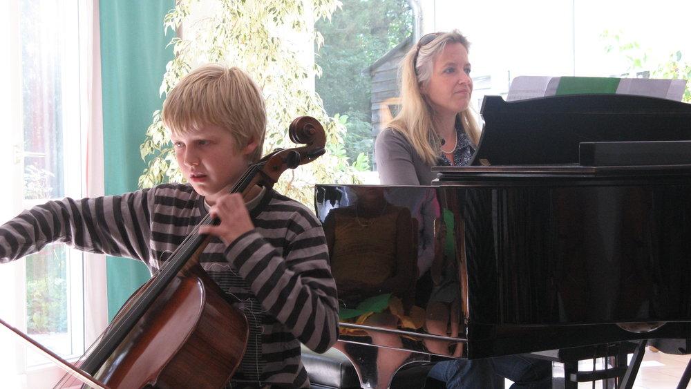 Philipp (10 Jahre) und Bettina Zimmer