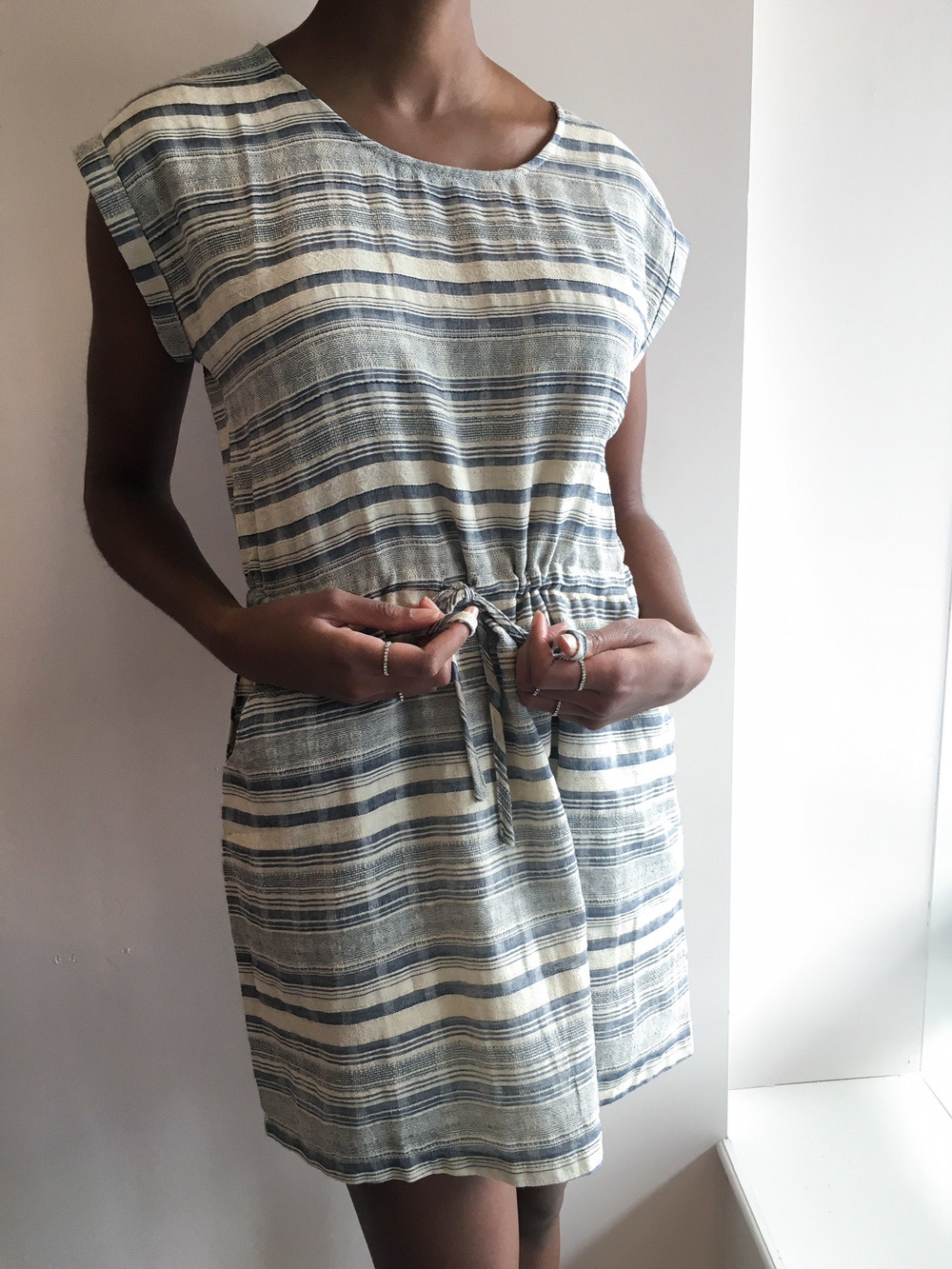She and Sky Striped Drawstring Dress $39