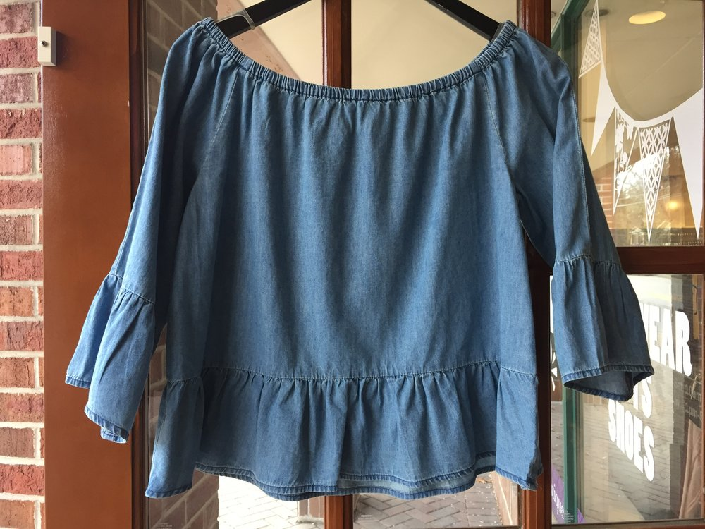 Cupcakes and Cashmere Chambray Top $98