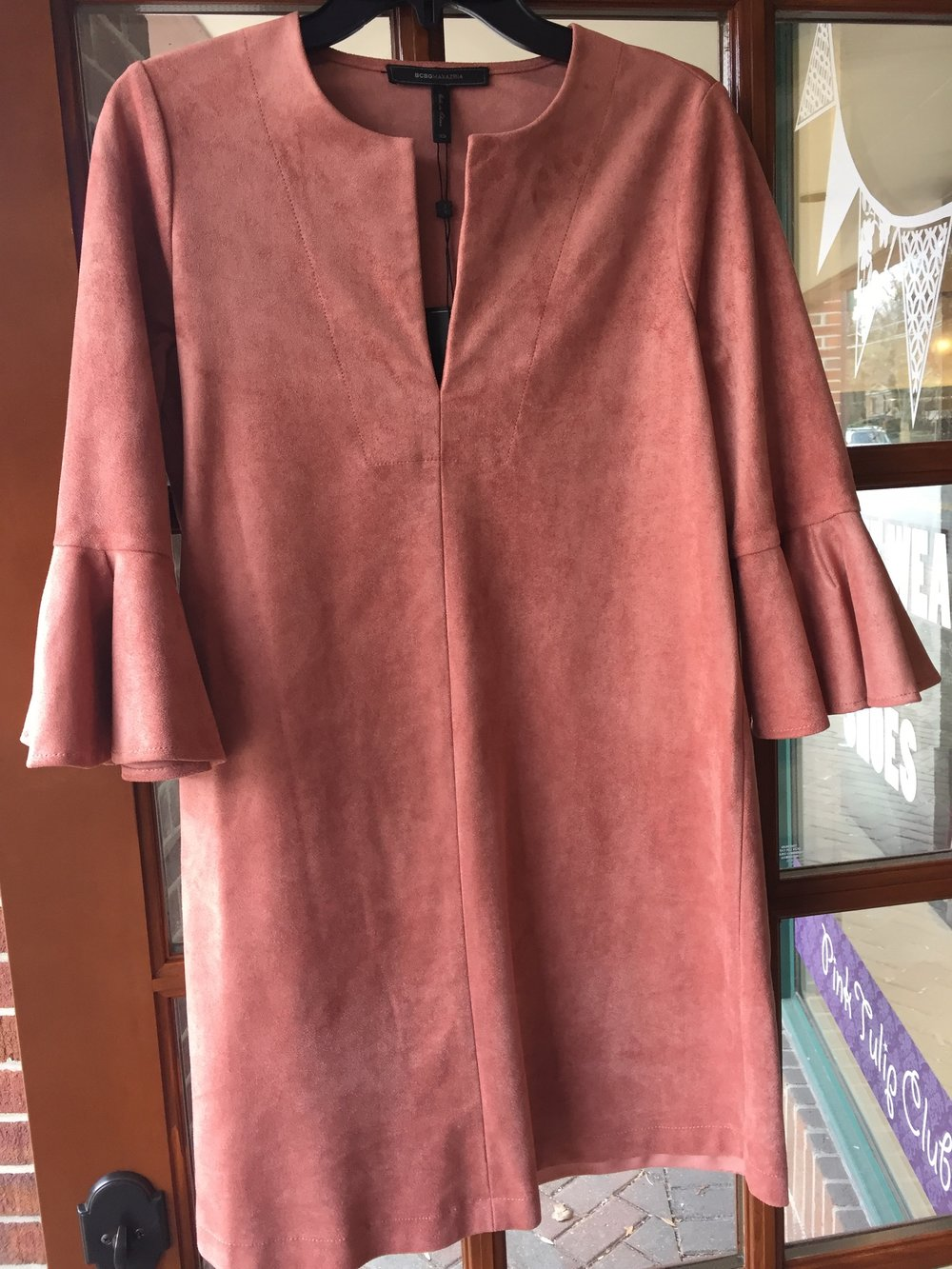 BCBG Max Azria Suede Dress $198