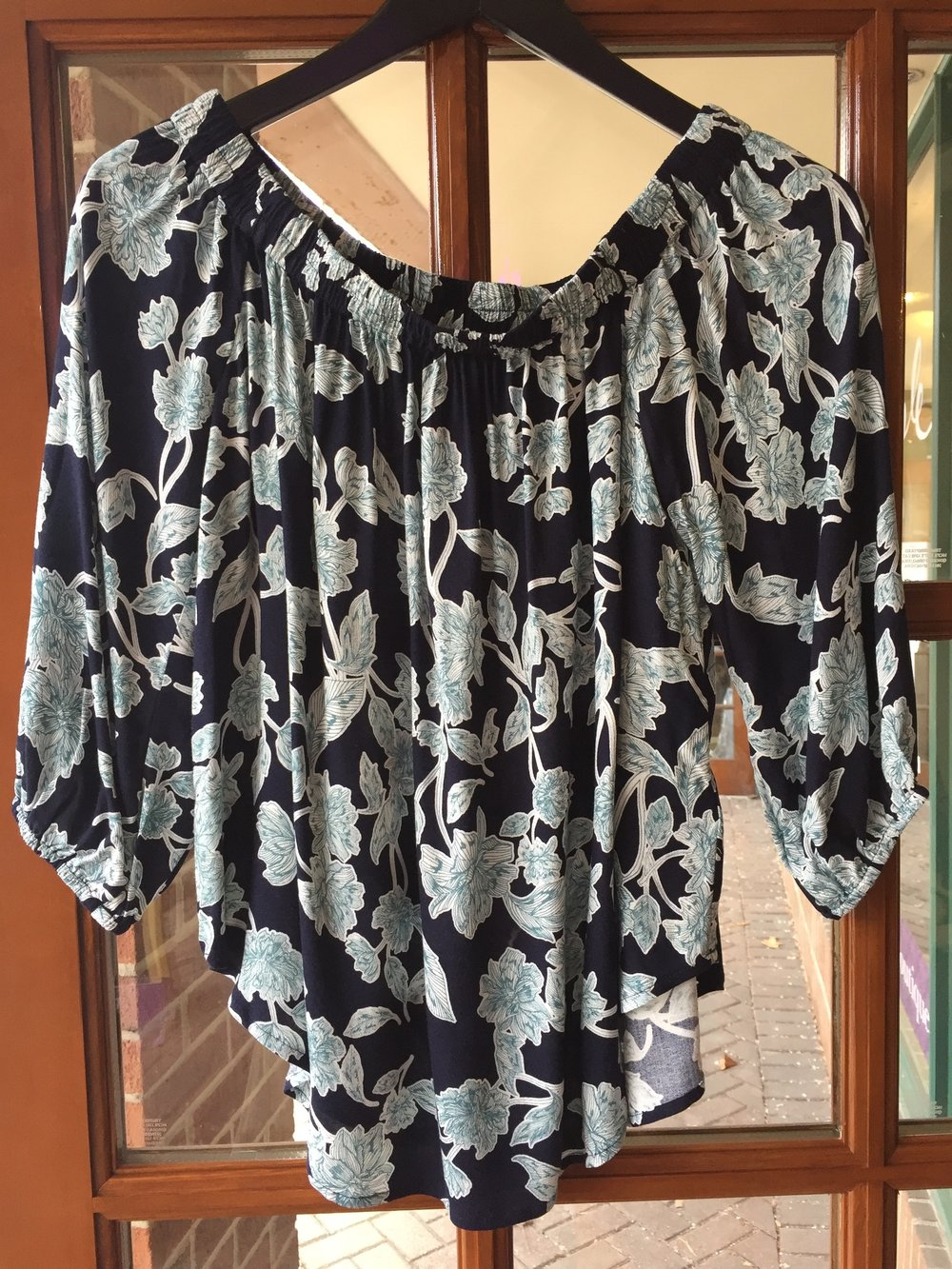 Splendid Floral Navy Top $128