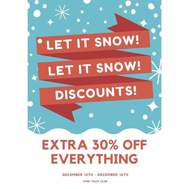 The Holiday sale is here! Take an extra 30% OFF your entire purchase starting now through December 16th! This includes clearance items and full price items! There are also line items still available to shop which include prices of $5, $10, $20 and $30! Come in today and cross off some names on that Christmas list 🎄