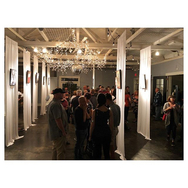 great turnout last night for #godsandmonsters . beautiful exhibit mazel to @danellefrench , @sebe_d , and our photo buddy @willyumphoto ! 🐉🧙♀️🧜🏽♀️🧝🏼♂️🧞♀️🦂🧜🏽♂️👹🐲 #frenchpharmdays #event #firstfridayindy #indyevents.