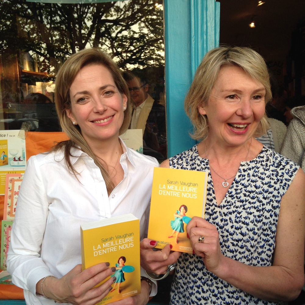 With Nathalie Iris at Mots en Marge, her bookshop in La Garenne Colombe.
