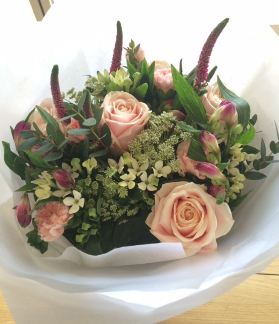Publication day flowers from Hodder