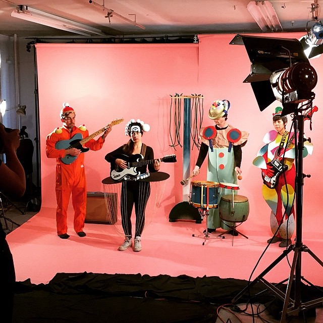 "Filming Houndstooth's ""Borderlands"" video @ Great Notion Creative in Portland, OR (2015), Photo by Scott Ballard"