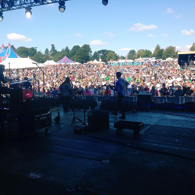Stage view of Houndstooth @ End Of The Road Festival in Larmer Tree Gardens, Wiltshire UK (2015)