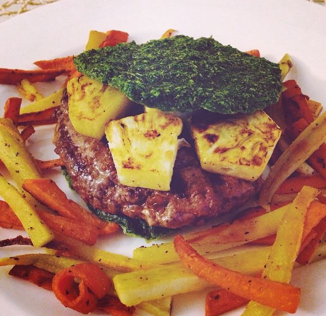 We apparentlyhave a thing for pineapple on burgers...