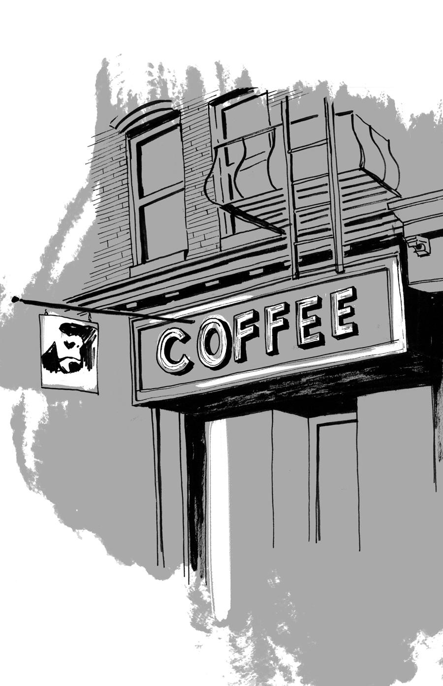 Drawing on Bergen Street
