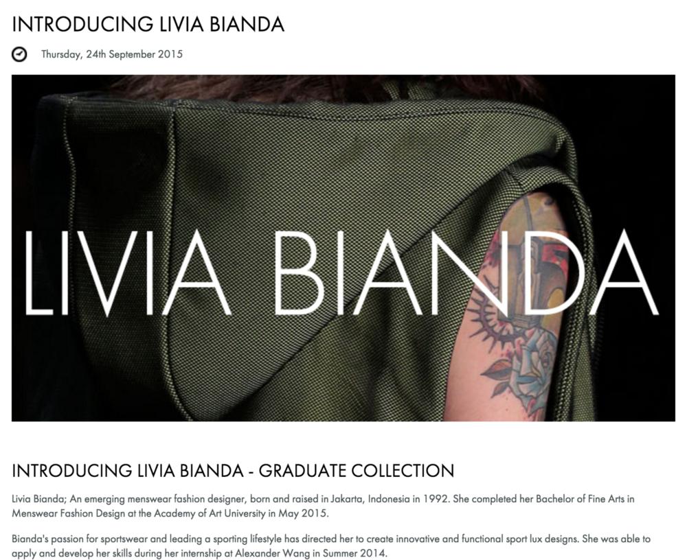 INTRODUCING LIVIA BIANDA