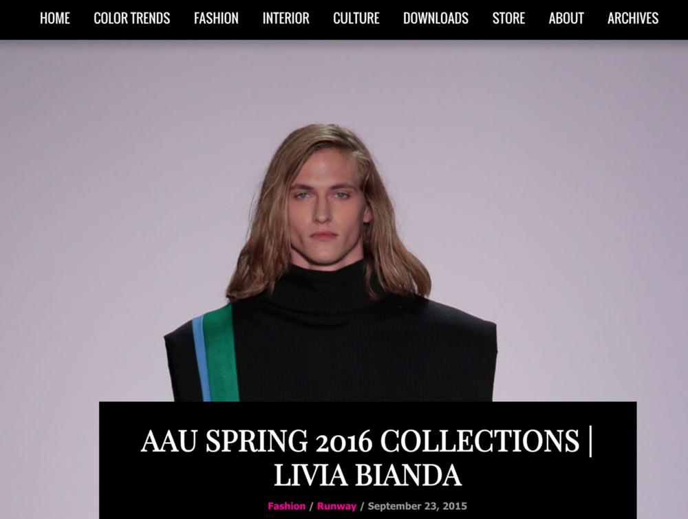 AAU SPRING 2016 COLLECTION: LIVIA BIANDA
