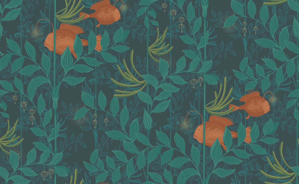 Nautilus Whimsical, Wallpaper – Cole + Son (www.nikkiweedon.com)