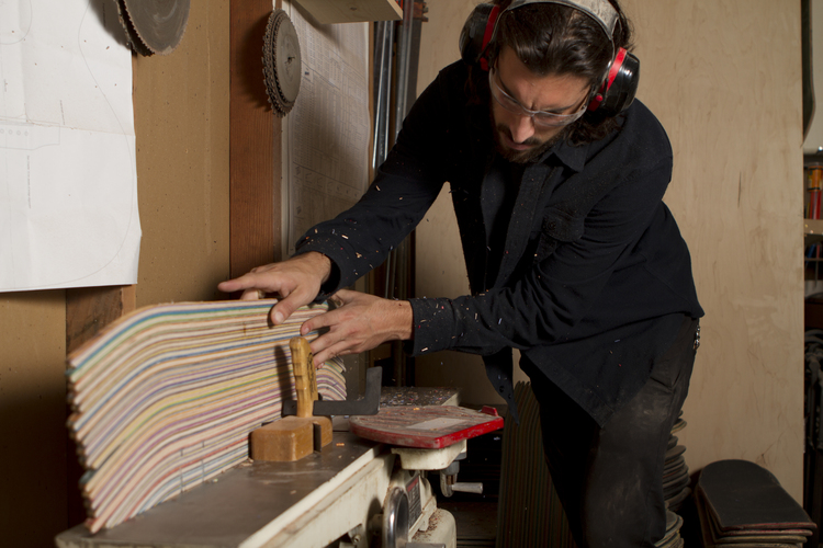 Recycled Skateboards Made Into Guitars - Prisma Guitars (www.nikkiweedon.com)