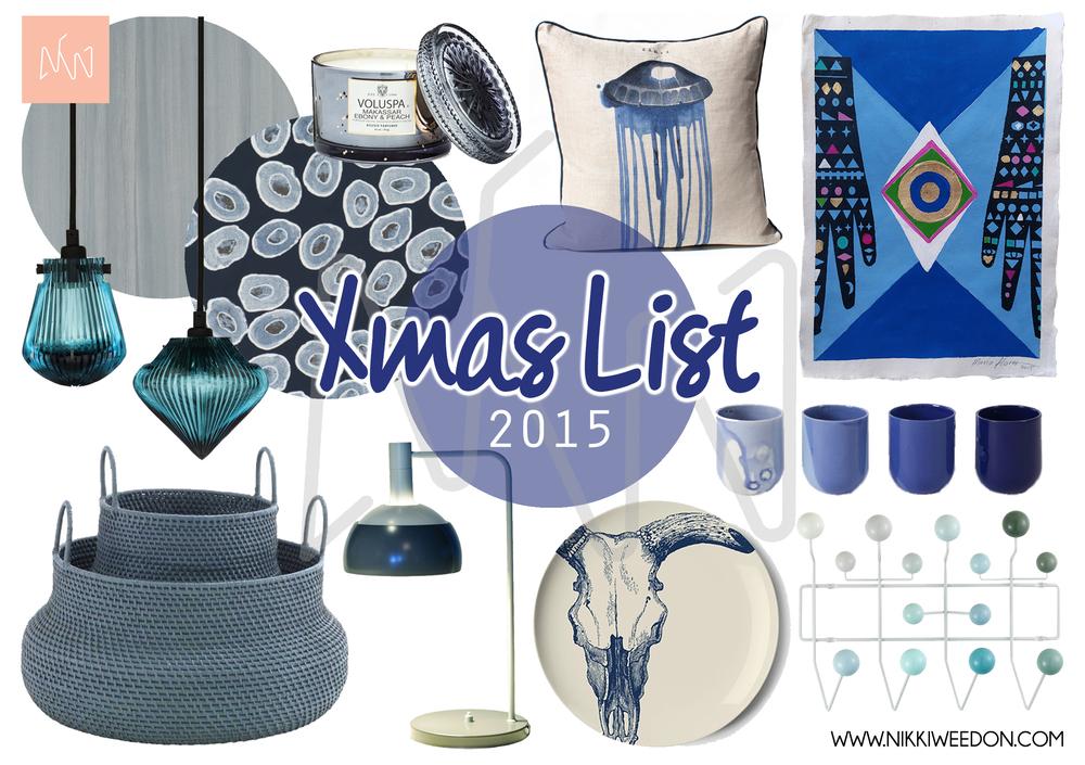 Xmas Wish List 2015 - Nikki Weedon (www.nikkiweedon.com)