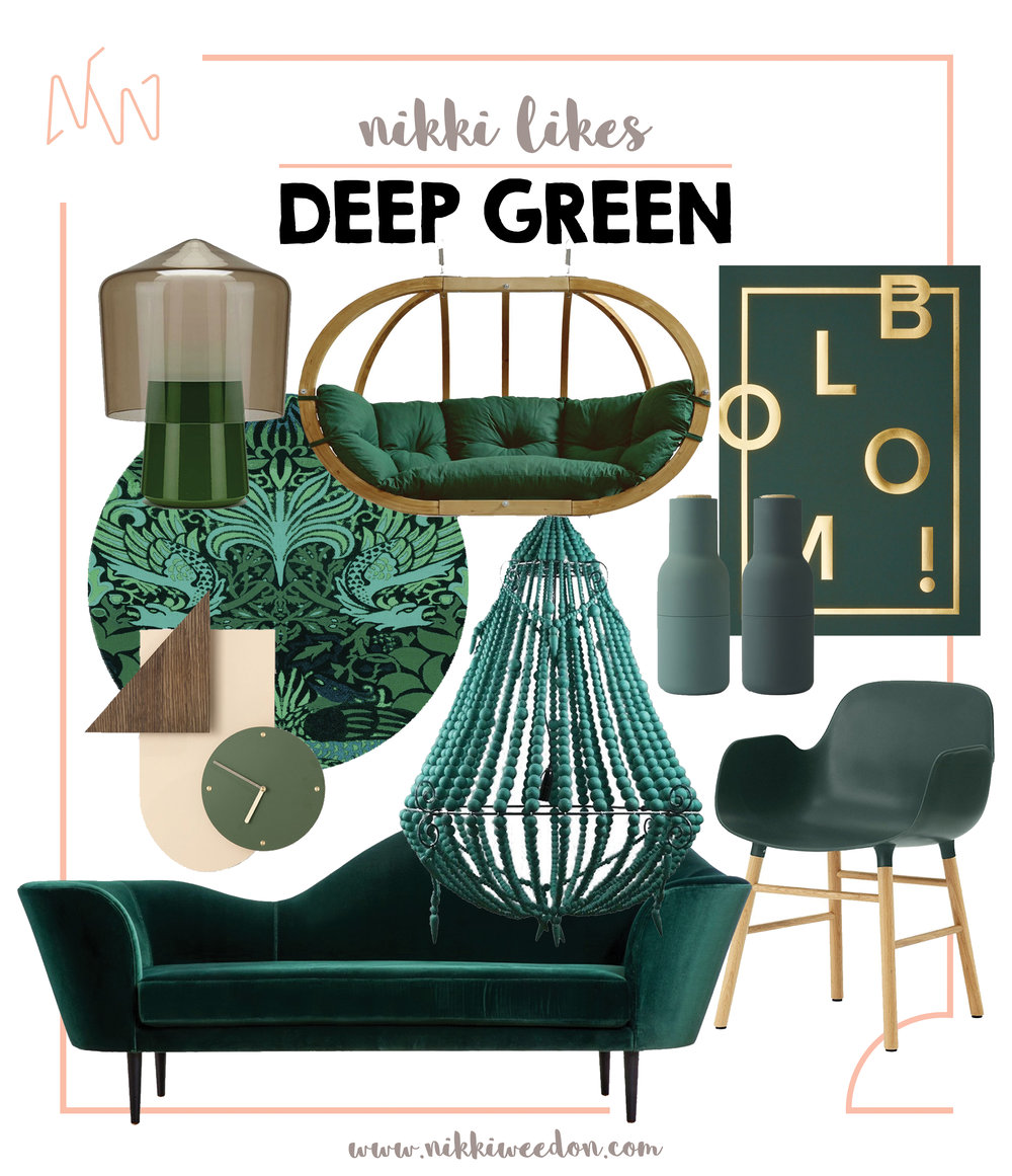 Nikki Weedon Likes DEEP GREEN