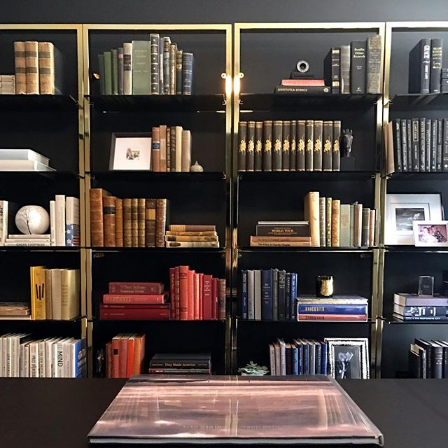 Books...a worthy investment.  #projectblackandglass #homeoffice