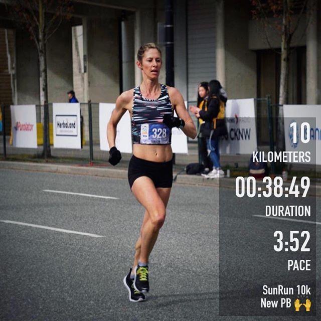 Happy to chase down another PB at the SunRun 10k this morning ☀️ 🙌 📸 @jeannineavelino #sunrun #sunrun2019 #10k #fastisfun