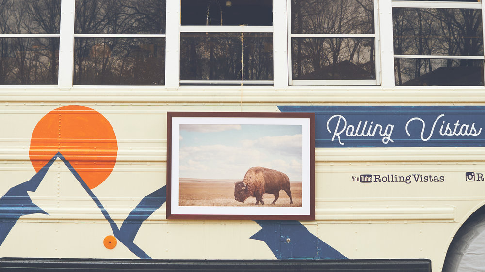 A framed photograph from our stay in South Dakota