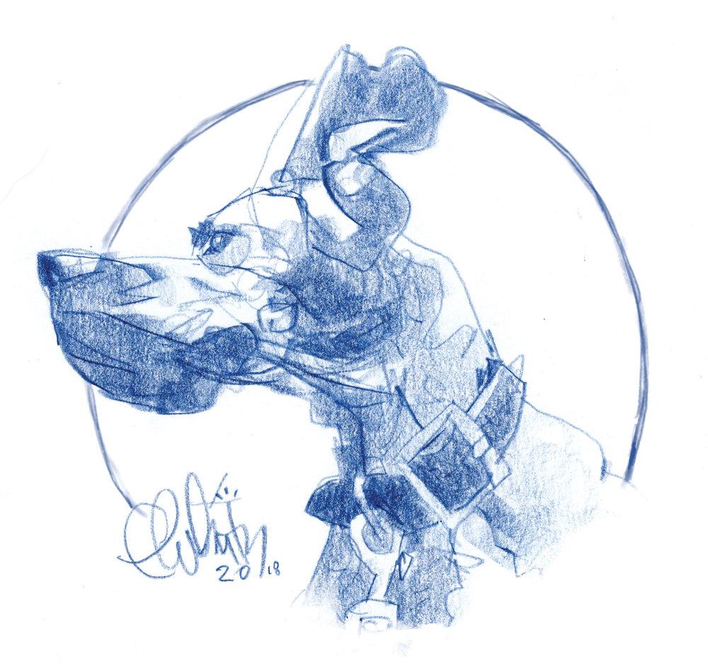 1. Pencil Study/Sketch