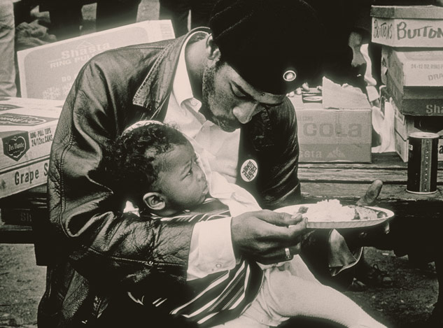 Father and child  , 1968, photo by Ruth Marion Baruch and Pirkle Jones