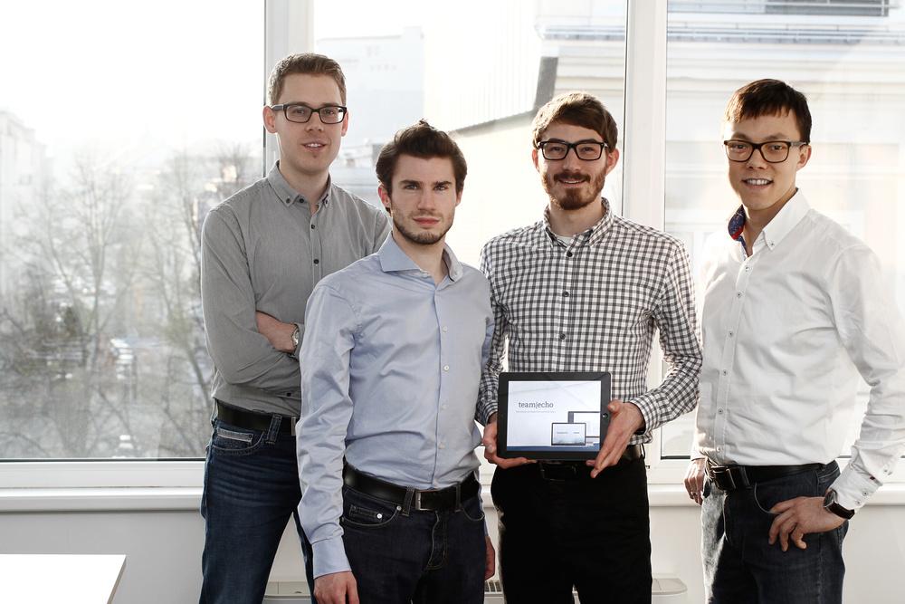 TeamEcho Gründer von links nach rechts: Harald Vogl, David Schellander, Markus Koblmüller, Gerold Brunner