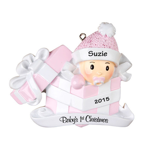 Baby girl first christmas gift personalized christmas ornament baby girl first christmas gift personalized christmas ornament negle Choice Image
