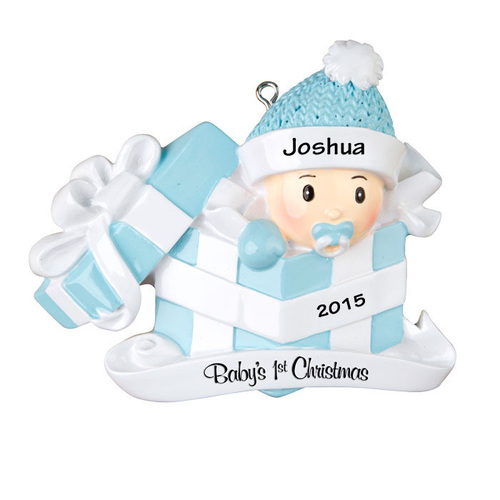 Baby Boy First Christmas Gift Personalized Christmas Ornament ...