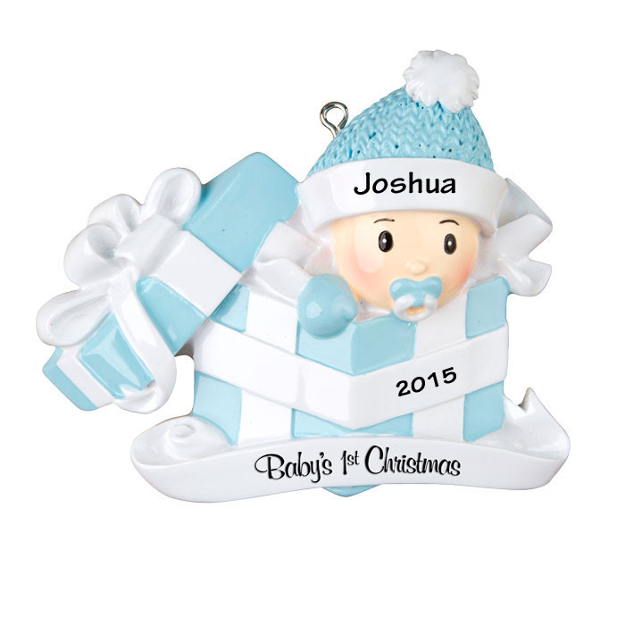 baby boy first christmas gift personalized christmas ornament - Baby Boy First Christmas Ornament