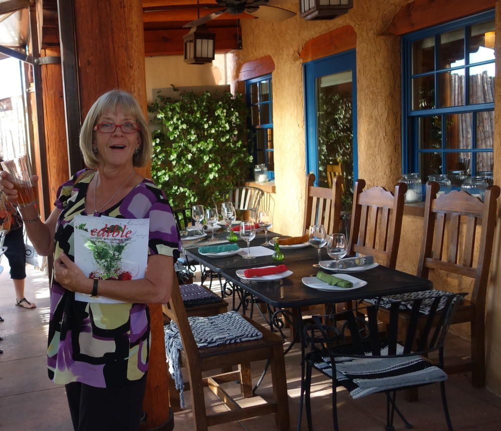 Attendee with Edible Santa Fe Magazine and Local Beer in Hand