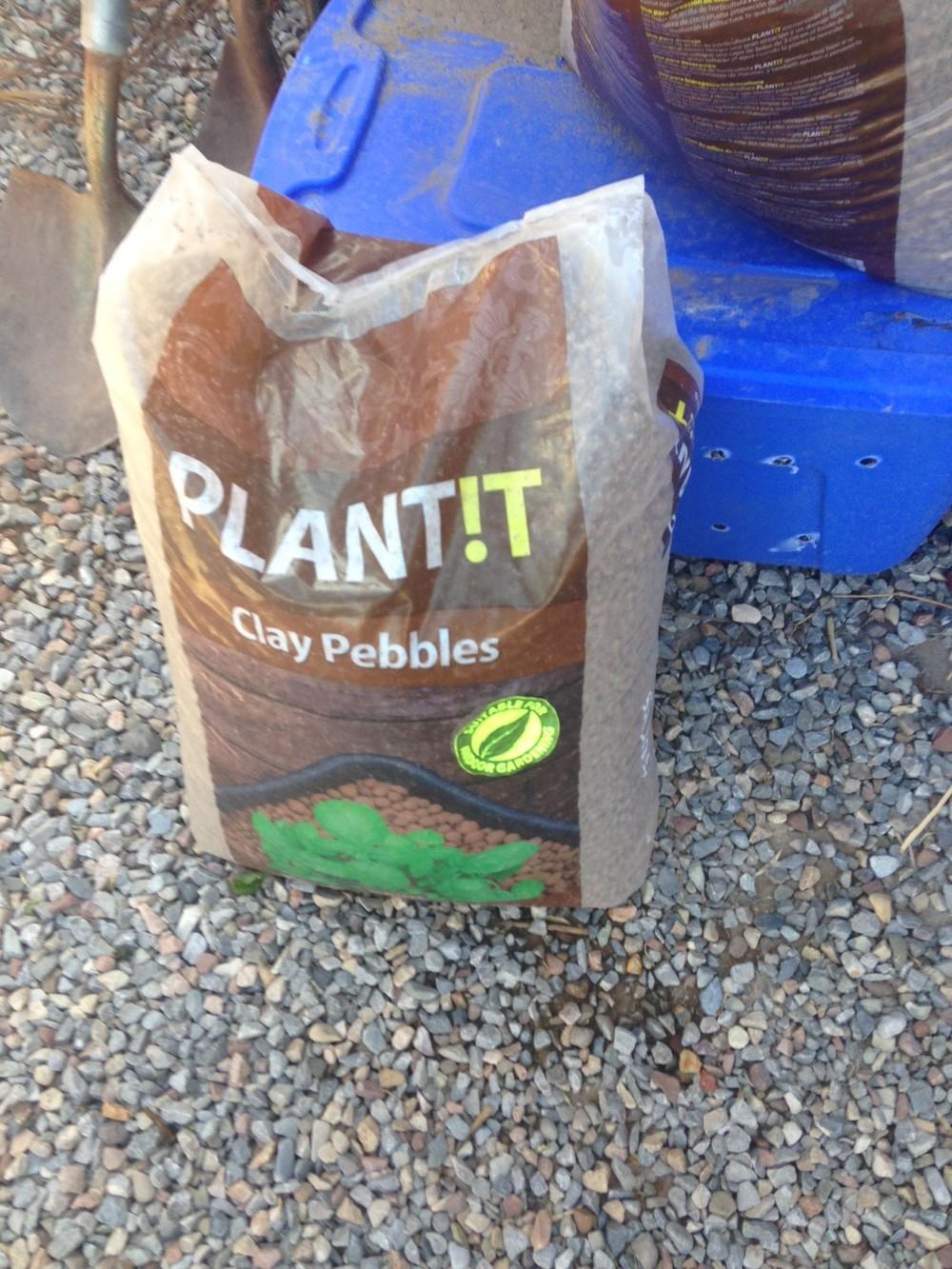 Clay Pebbles Bag
