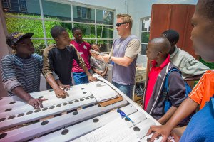 Hydroponics class in Africa. Sysyem donated from American Hydroponics