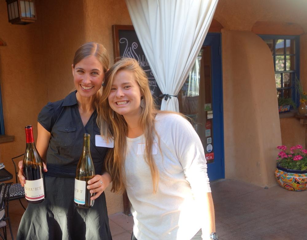 Jessica of UNM and Natalie APS Gardener, Two Beaitful Volunteers