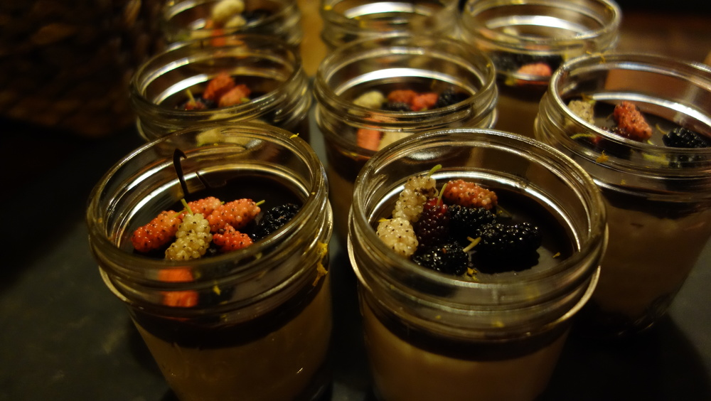 Sean's Berries & Twigs with foraged Mulberries