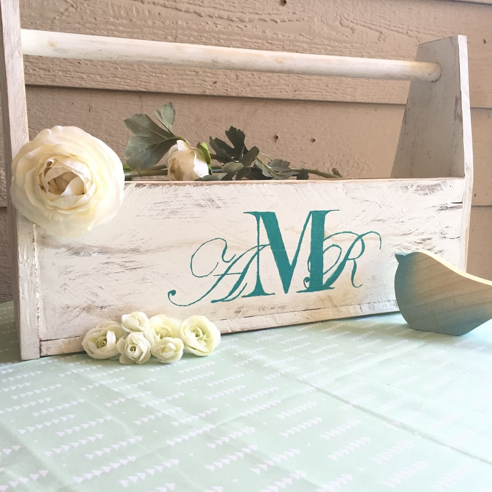 Monogrammed White Toolbpx
