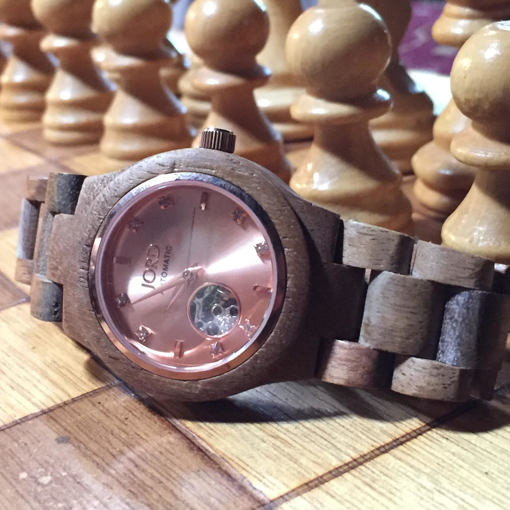 Jord Watch Rose Face and Jeweled Numbers