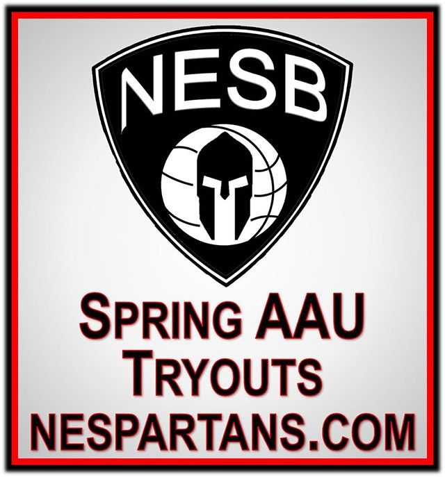 Register now for Spring 2019 AAU Tryouts at nespartans.com