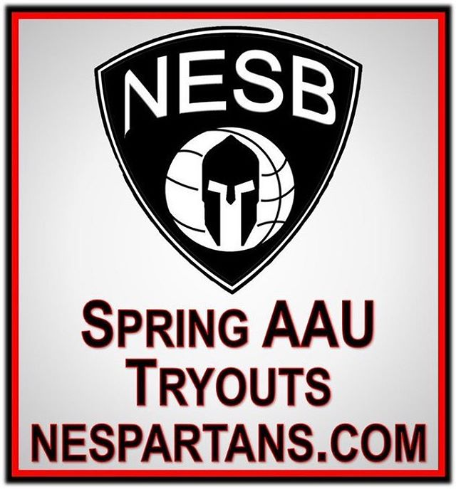 ‪Spring AAU Tryouts begin tomorrow. ‬ ‪Register now nespartans.com‬
