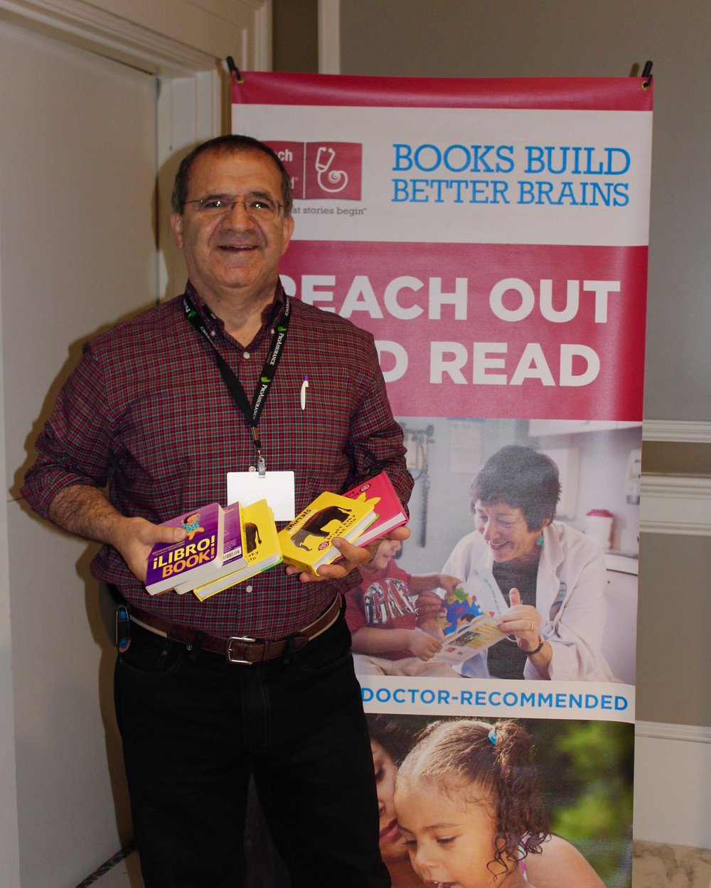 Congrats to Dr. Bashir who was the lucky winner of 100 books from First Book at the Spring meeting of the Alabama Chapter-American Academy of Pediatrics.