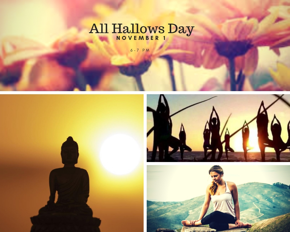 All Hallows Day Yoga - Thursday, November 1, 2018.  6-7 PMJoin us on the cliffs as we drop in to our bodies and move, releasing the mind and opening our energetic channels so that we can expand our awareness.  This day, known as Halloween, Hallowtide, and All Saints day, is a day to commune with and honor the saints and energies around us.  As the natural world begins to prepare for winter, the web of life is more tightly woven and the veil between realities is thinnest.   By DonationContact me for more info