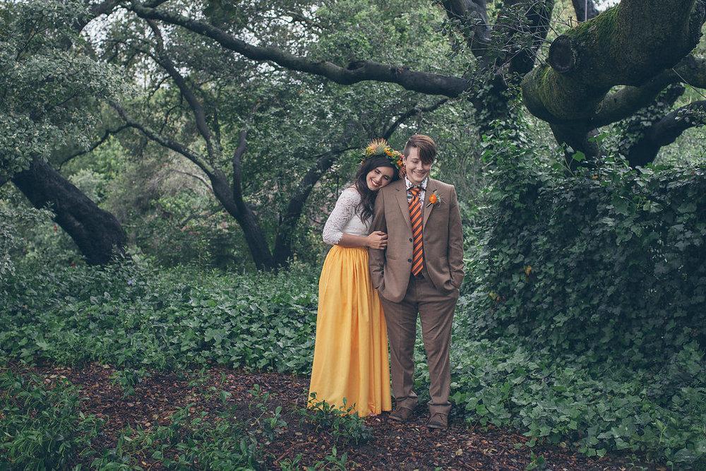 DANIELLE +ERICA // rainy day backyard wedding