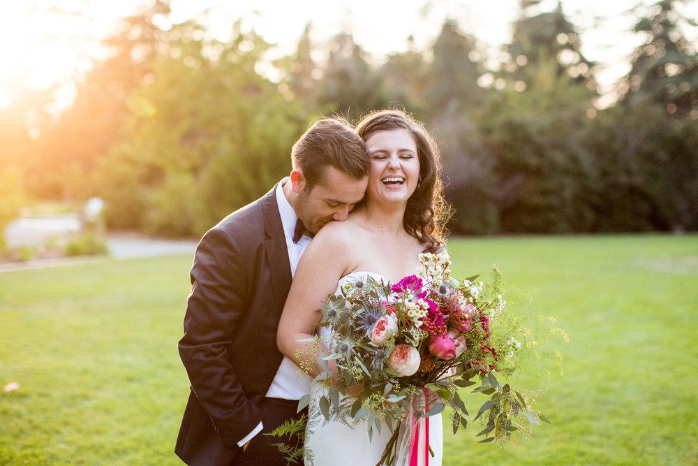 COURTNEY + WALLY // SUMMER backyard wedding in atherton