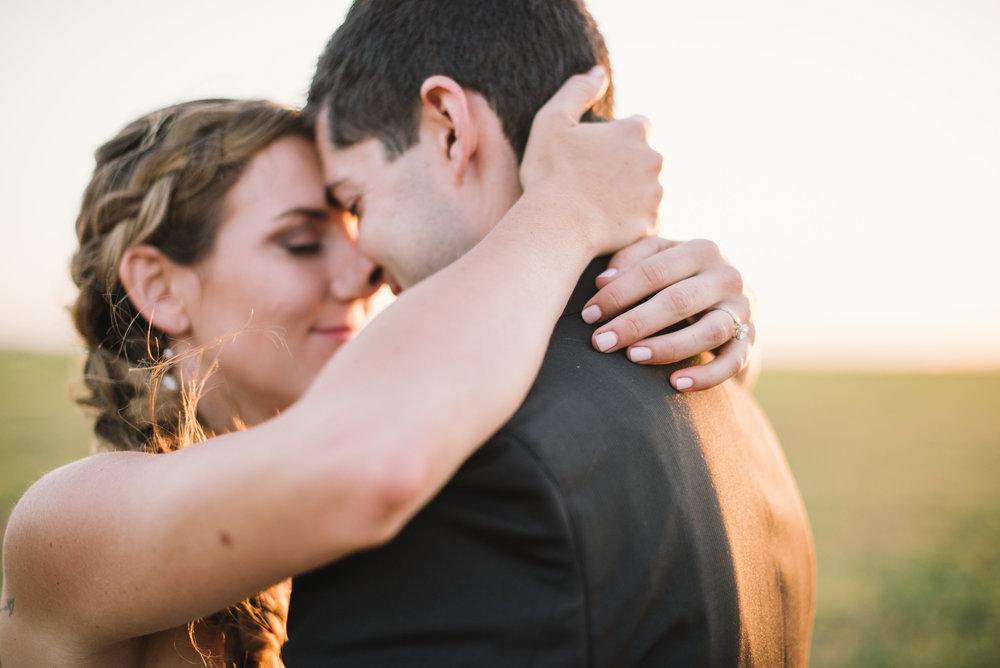 KIIRA + DANIEL // backyard garden diy wedding with rustic accents