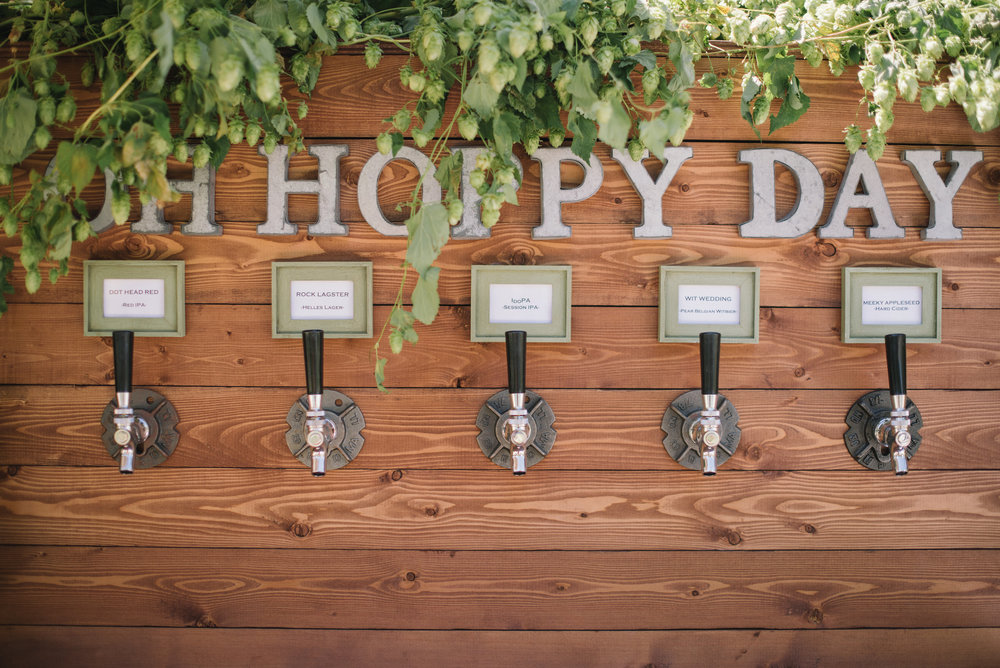 beer bar wedding