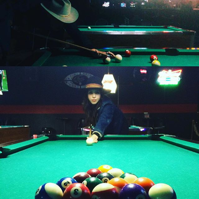 The only way we could figure out how to wrap it up for 2015.  Shoot pool and listen to pop country in the middle of the desert.  The GOE wishes all of y'all a wonderful new year.  Keep chasing that neon rainbow,  and living that honky tonk dream: