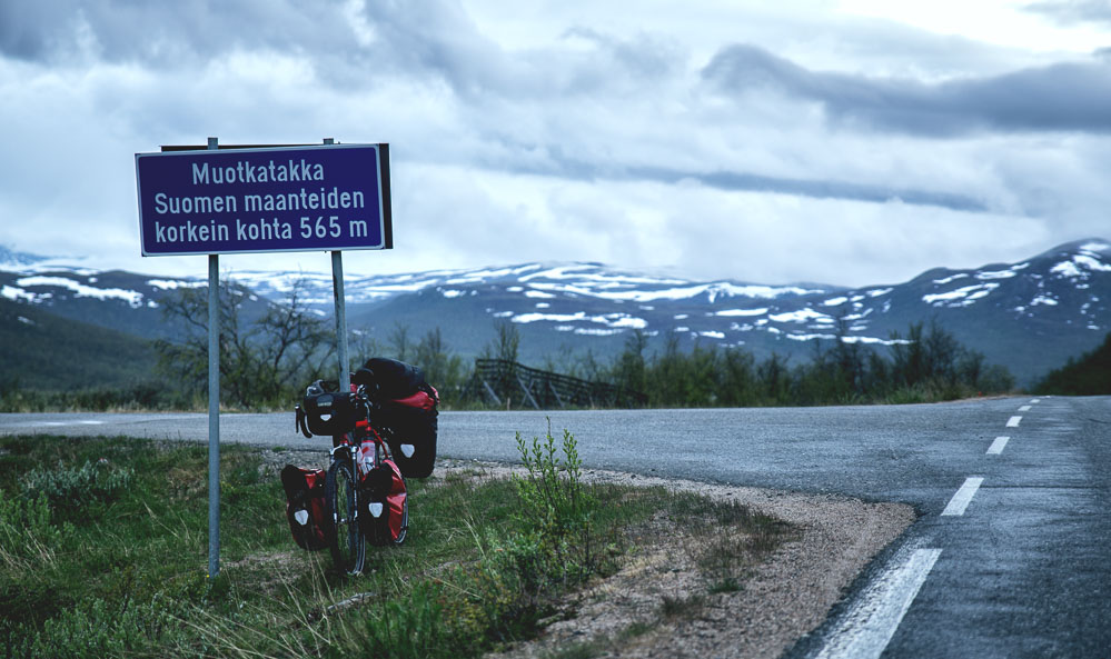 The highest point in Finland's highways is only 565m, which goes to show how flat Finland really is.