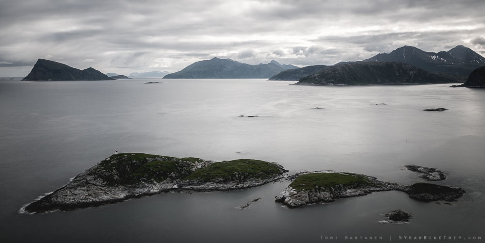 Islands off Sommaroy, Norway.
