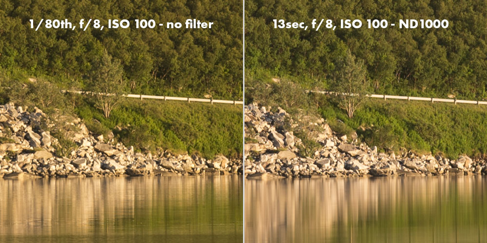 DolDer X-Pro ND 1000 Series Slim sharpness comparison.