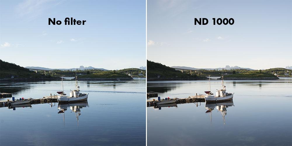 DolDer X-Pro ND 1000 Series Slim color cast comparison.