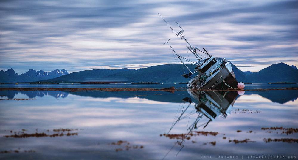Shipwreck in Lofoten.